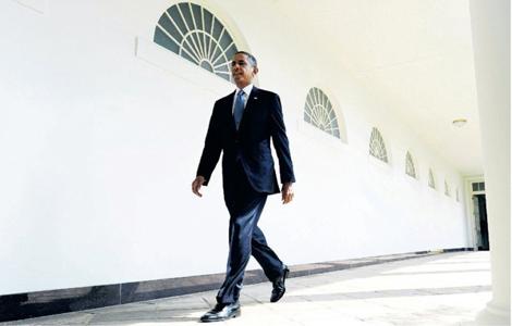 Obama zelfverzekerder door standpunt fotograaf